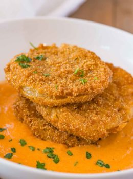 Fried Green Tomatoes with Sauce