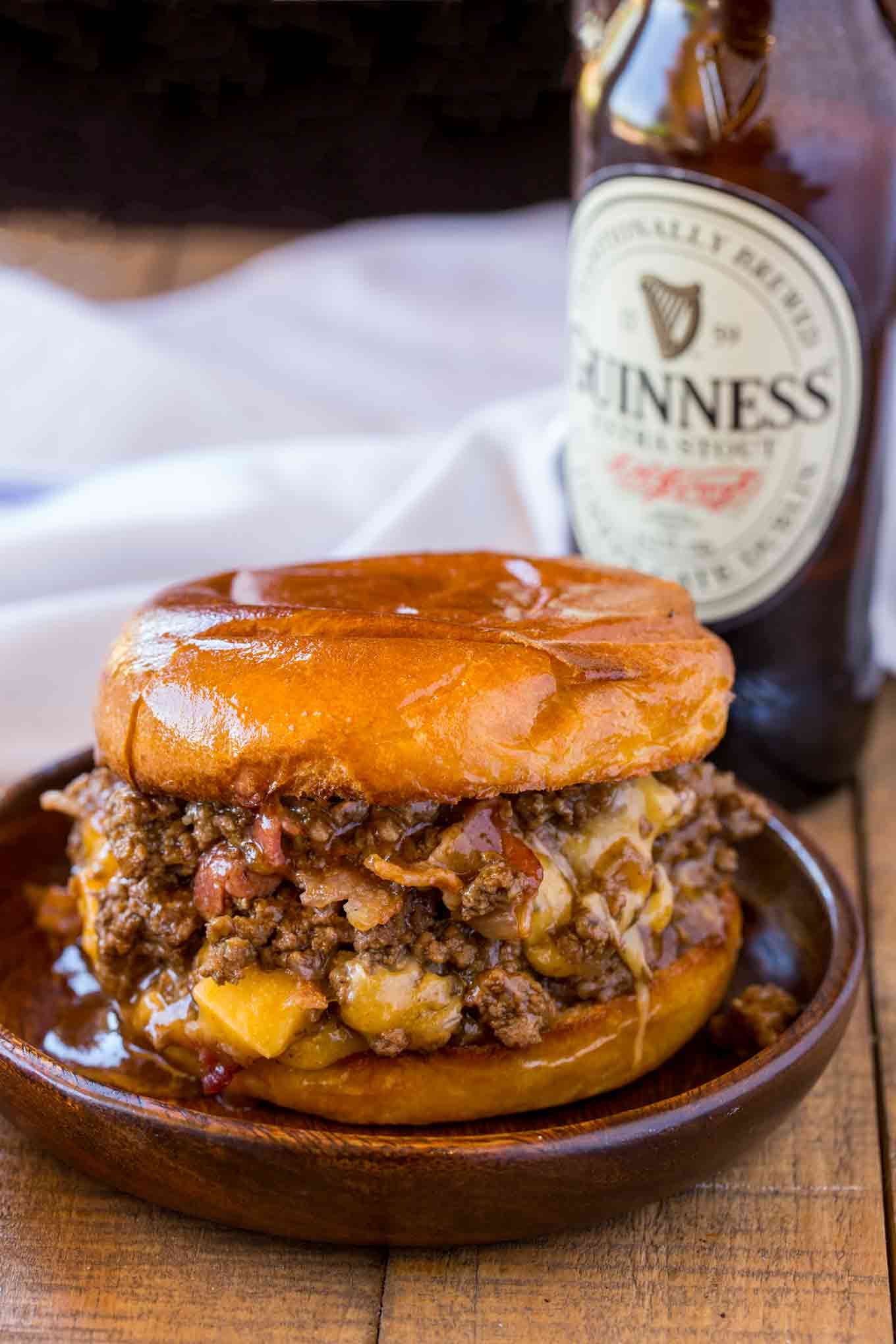 A New Twist On a Classic Recipe: Bacon, Beer and Cheese Sloppy Joes