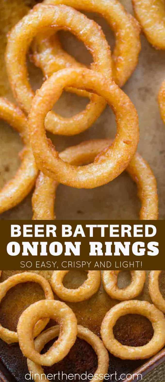Beer Battered Onion Rings with Buttermilk