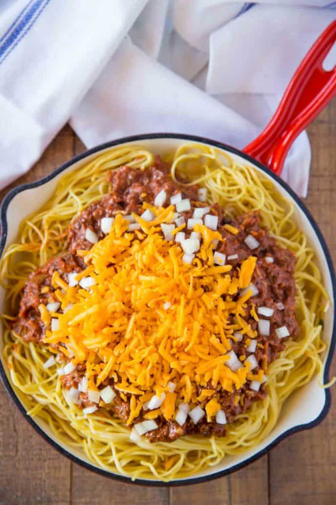 Cincinnati Chili with Noodles