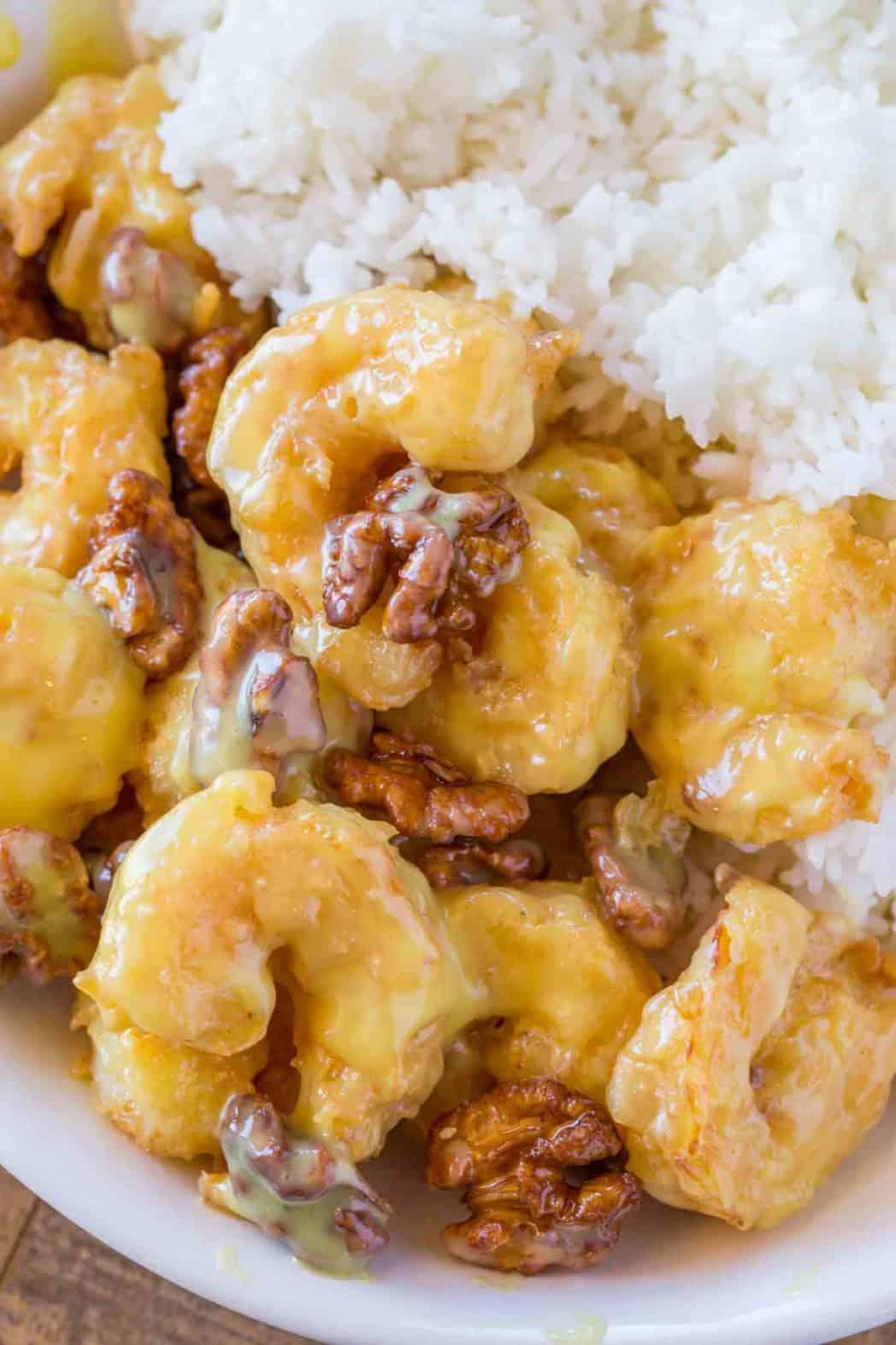 Honey Walnut Shrimp Dinner Then Dessert