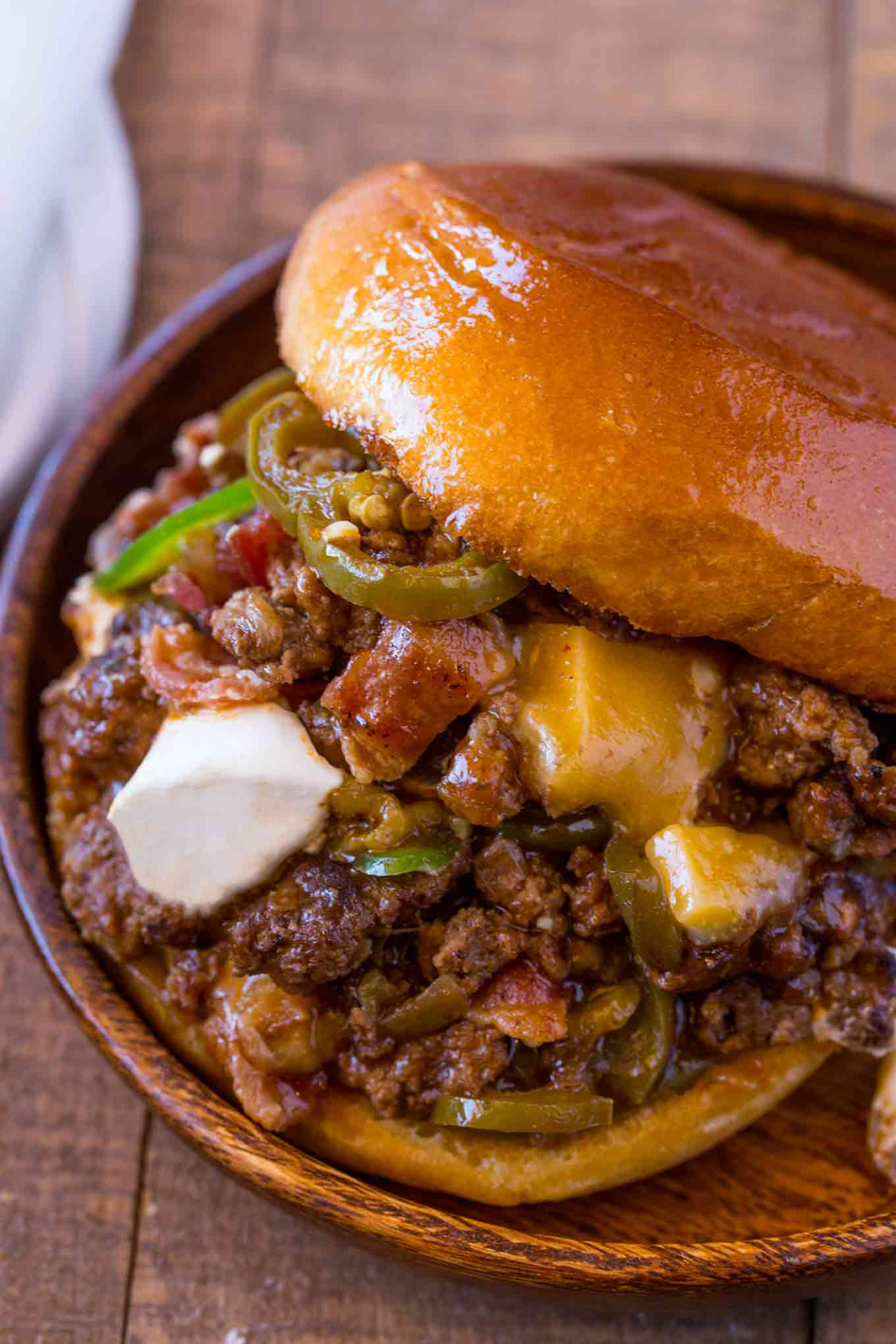Bacon and Cheddar Jalapeno Sloppy Joes