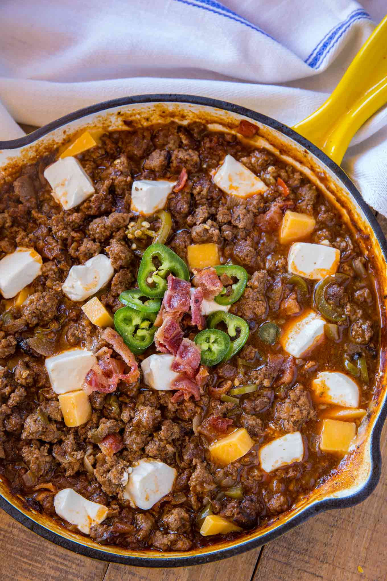 Jalapeno Popper Sloppy Joes in skillet
