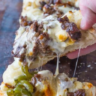 Philly Cheesesteak Cheesy Bread