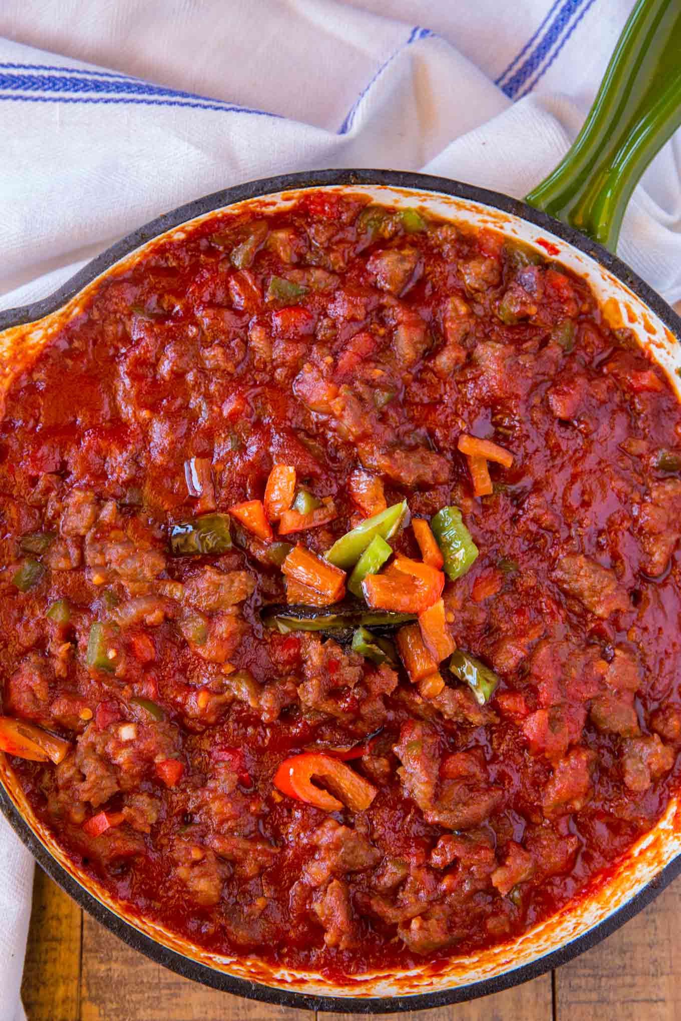 Sausage Sloppy Joes with Bell Peppers