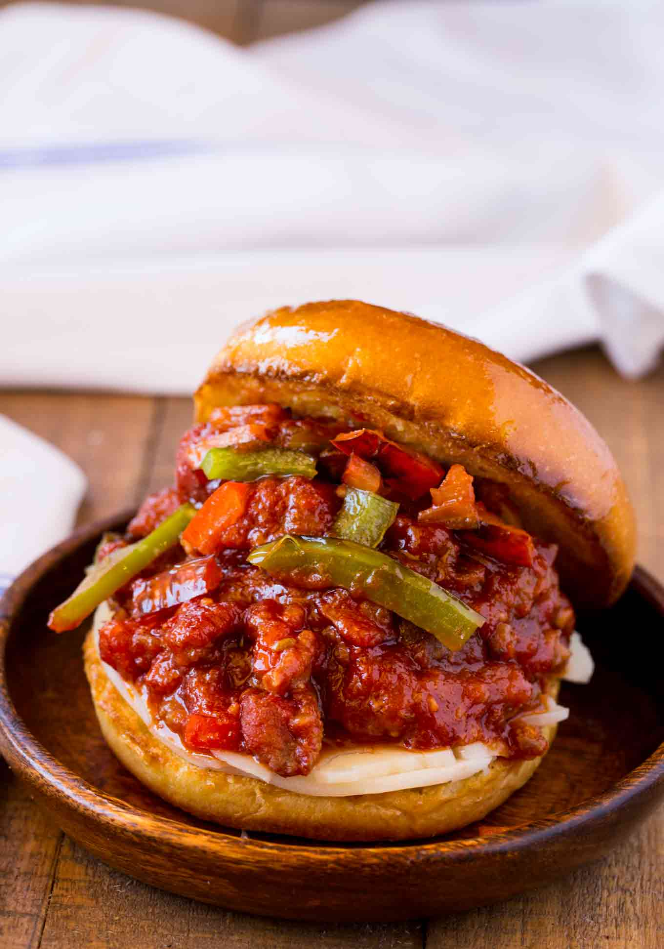 Sausage and Peppers Sloppy Joes