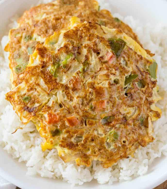 Vegetarian Egg Foo Young