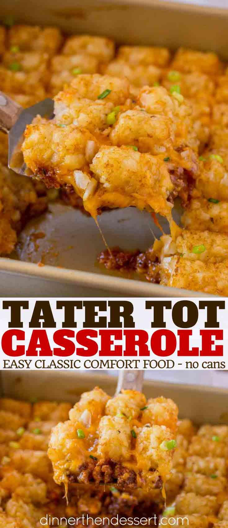 Tater Tot Casserole - Dinner, then Dessert