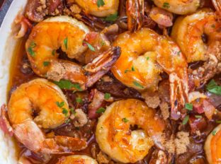 Bacon Shrimp with Garlic