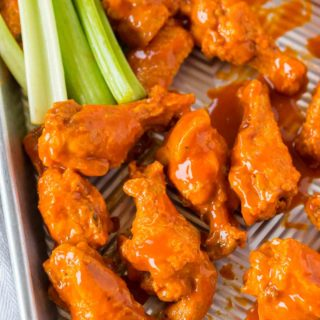 party wings with buffalo sauce