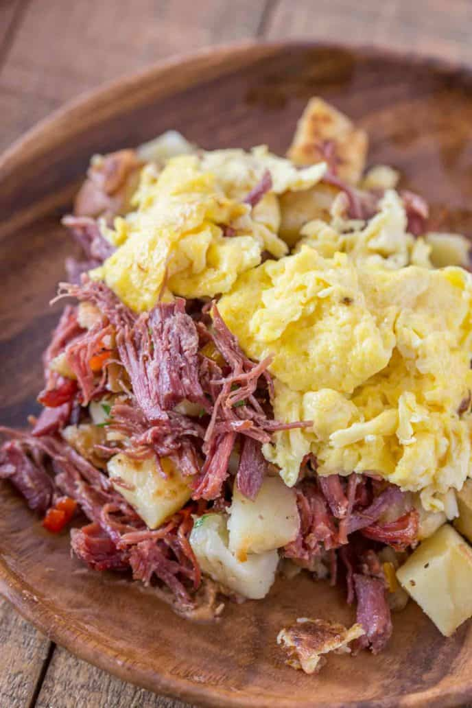 Corned Beef Hash with Scrambled Eggs