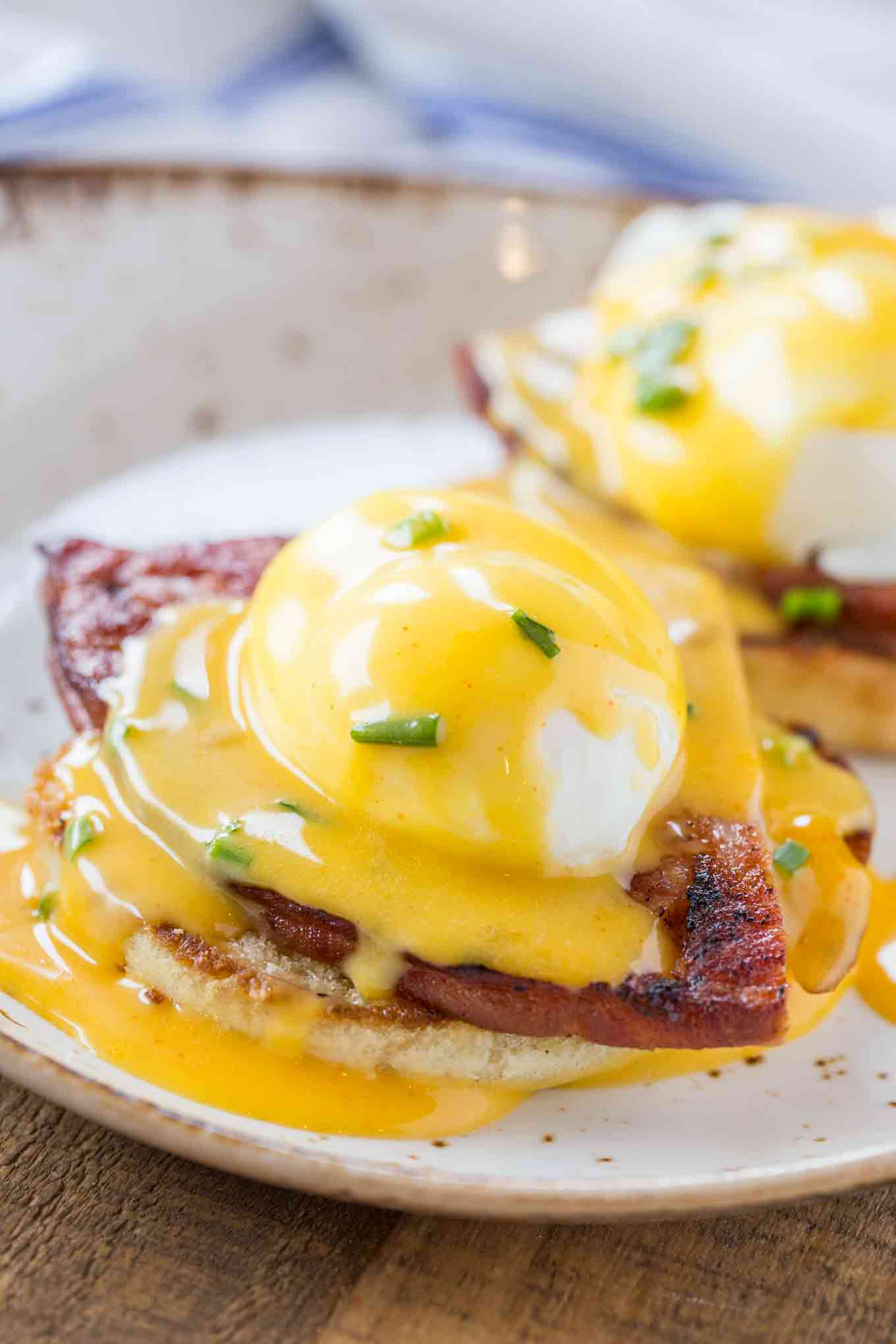 Benedict breakfast with eggs and hollandaise