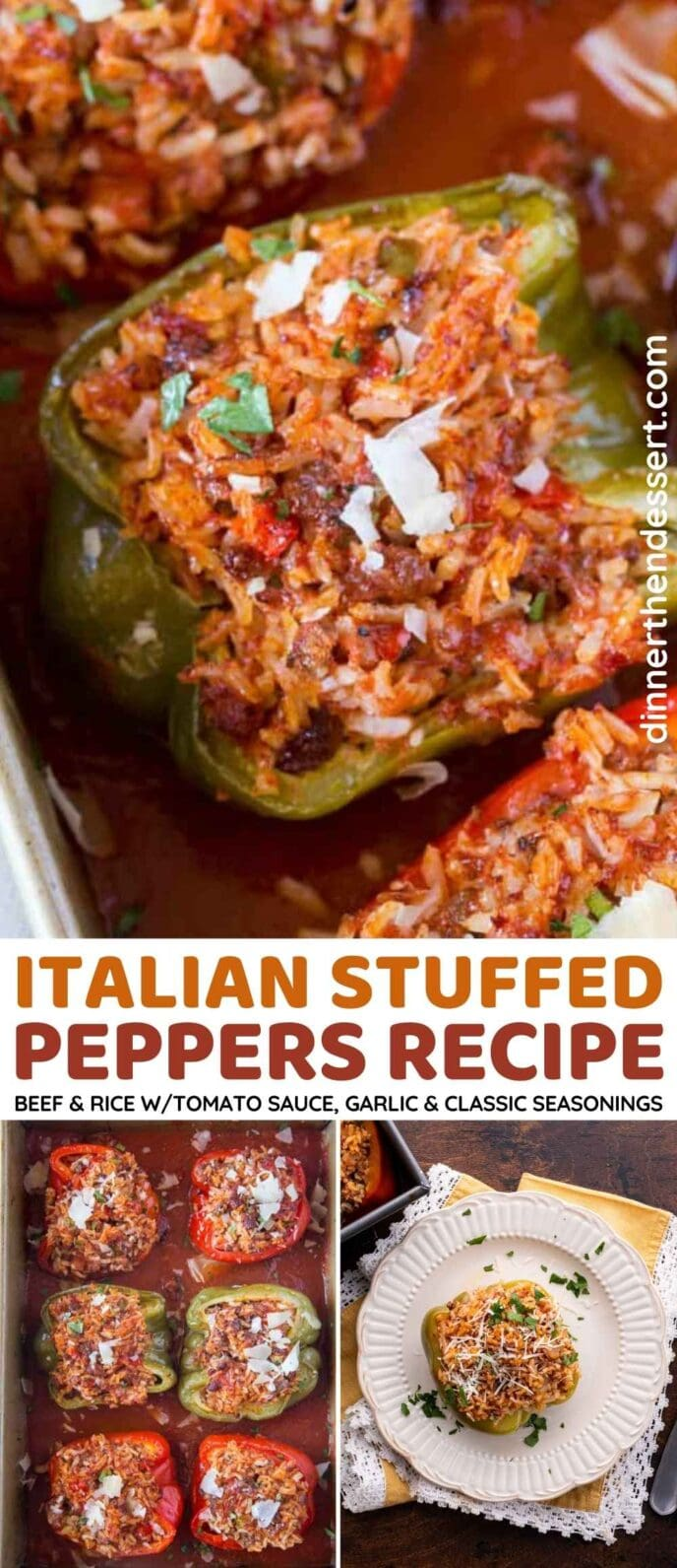 Stuffed Peppers Collage