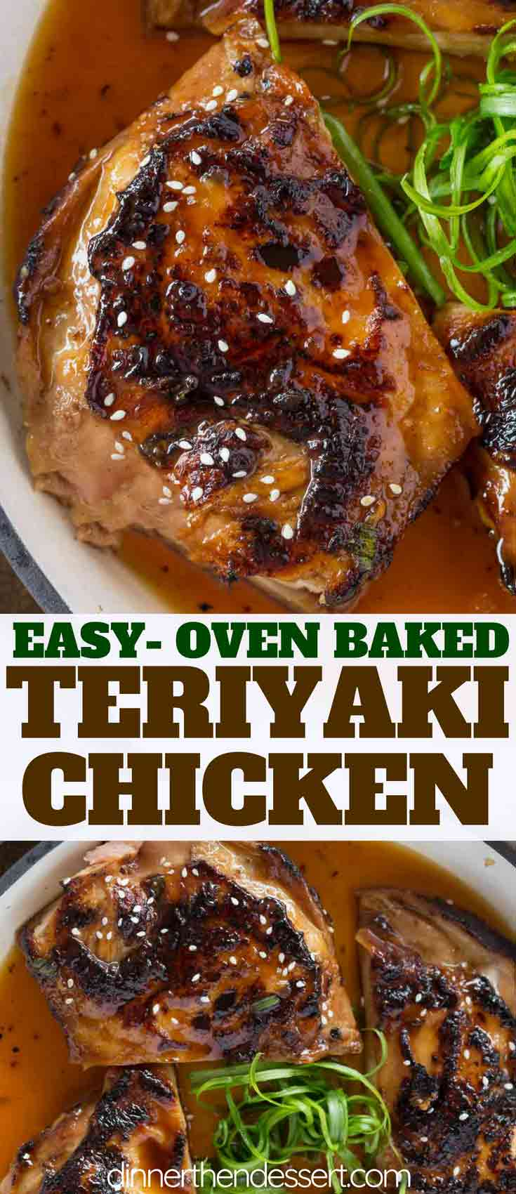 Baked Teriyaki Chicken Dinner Then Dessert