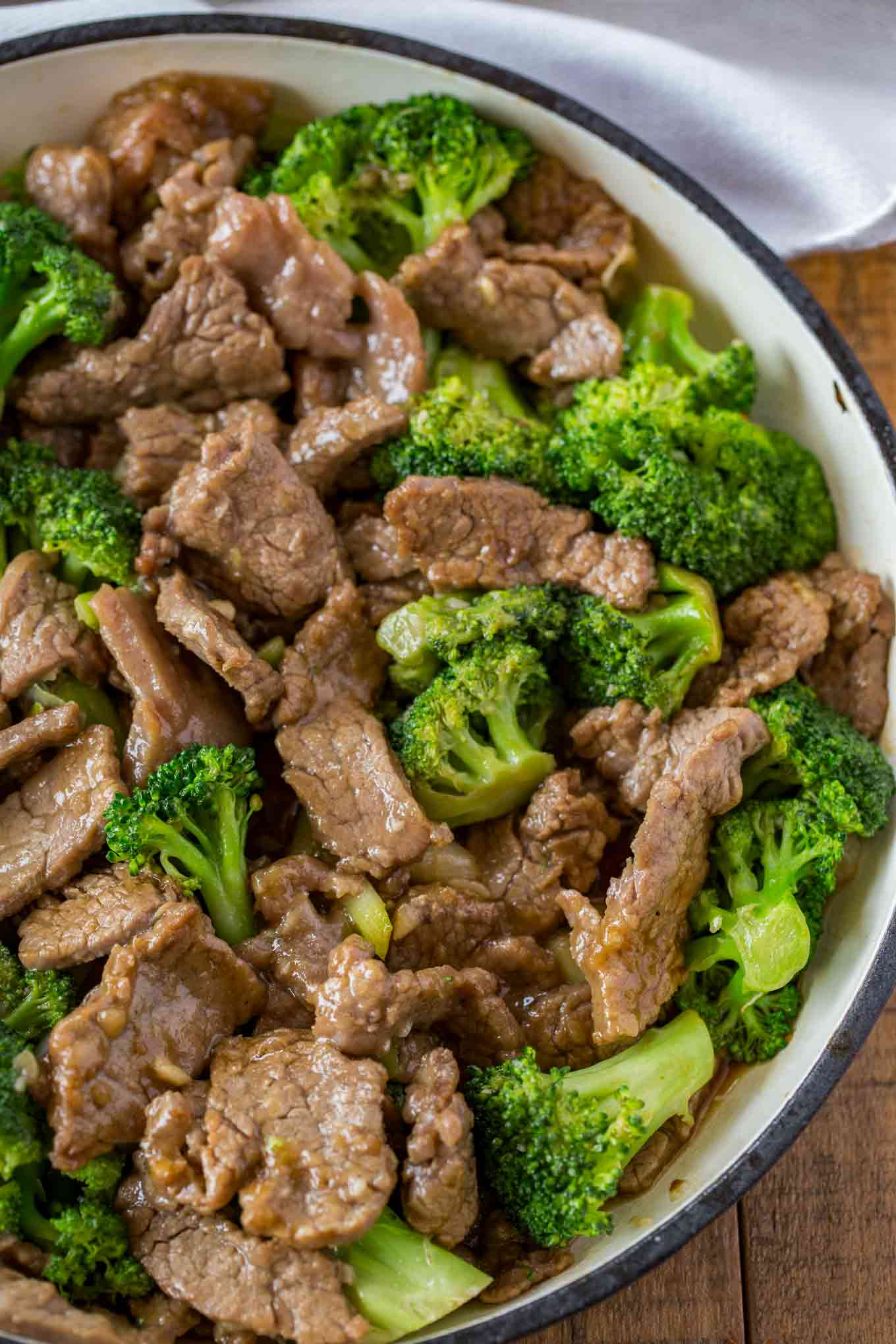 Beef And Broccoli Dinner Then Dessert