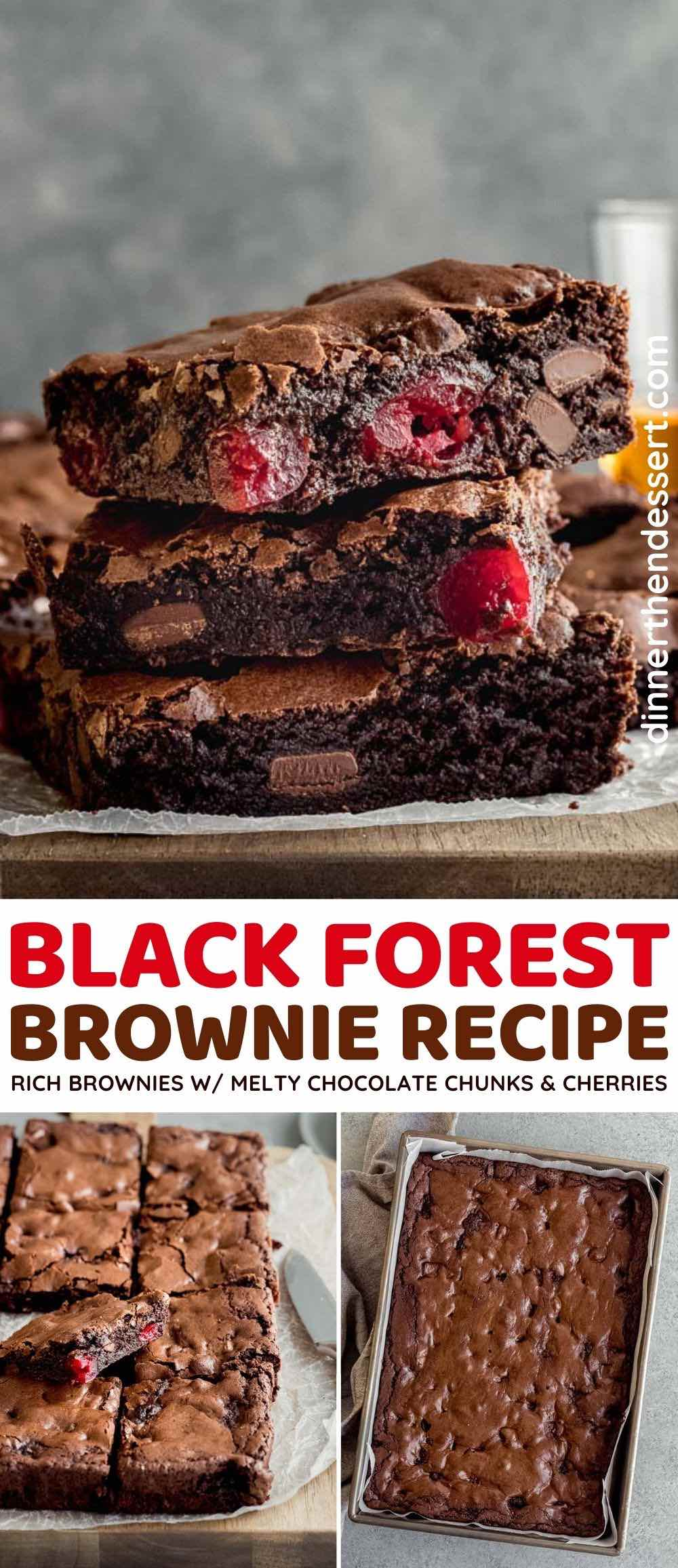 Black Forest Brownie collage