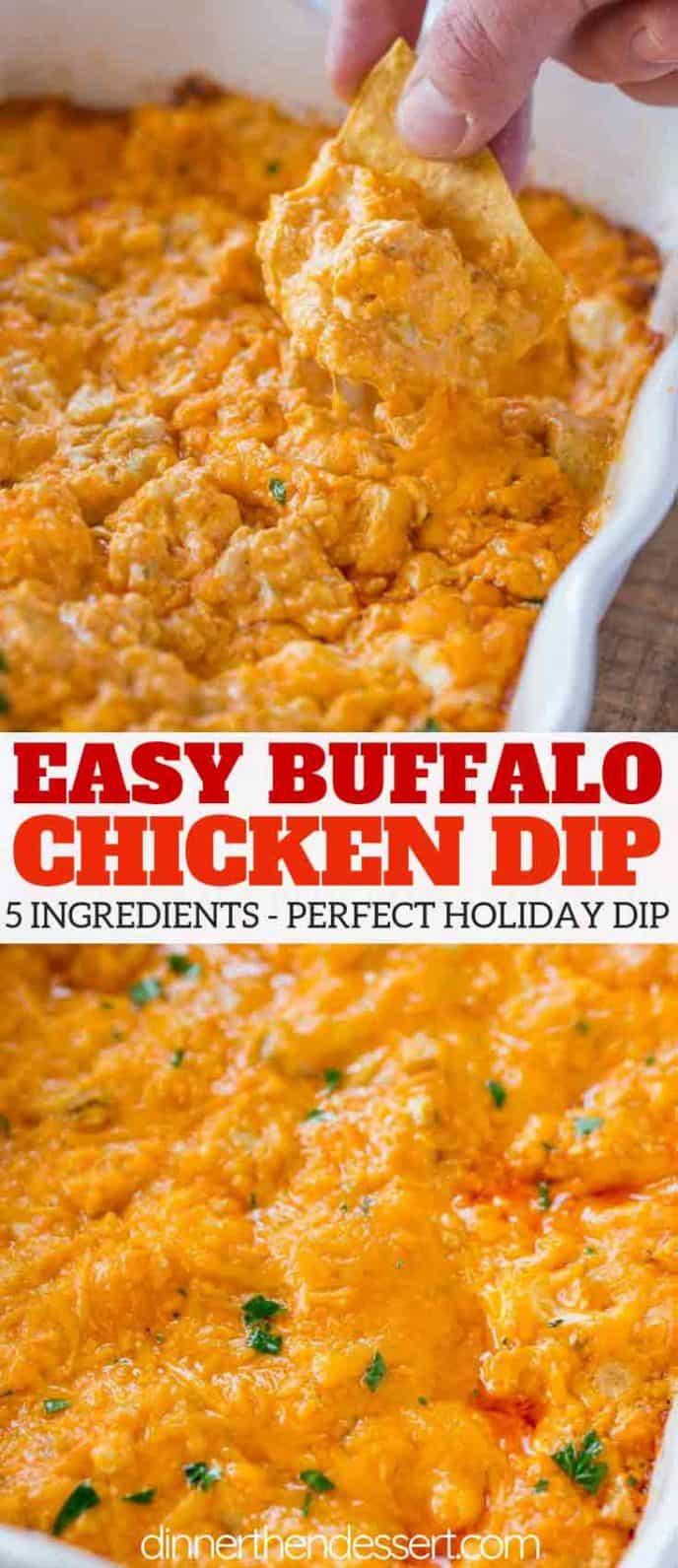 Buffalo Chicken Dip collage
