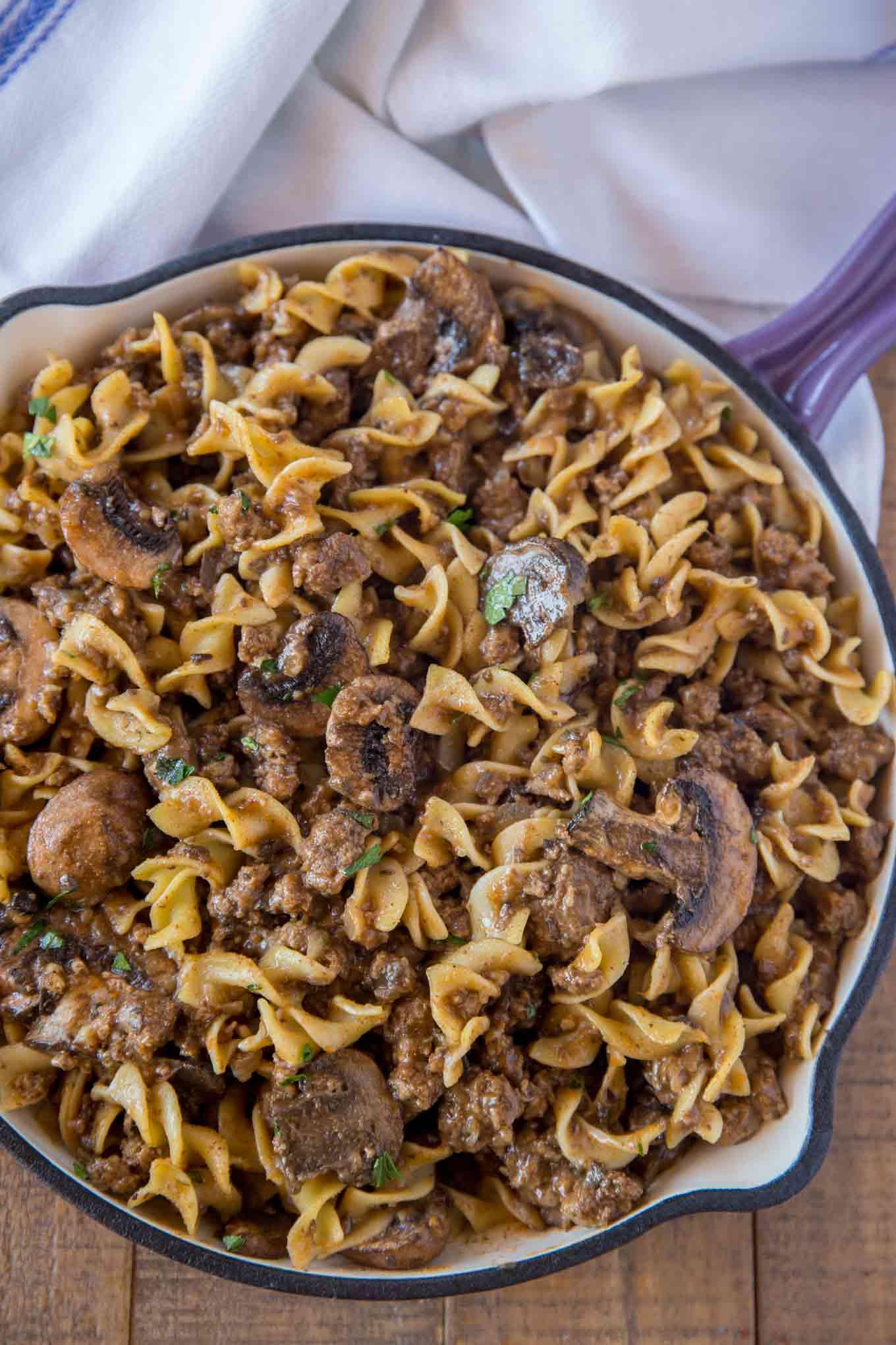 Pasta with Ground Beef Pot Roast