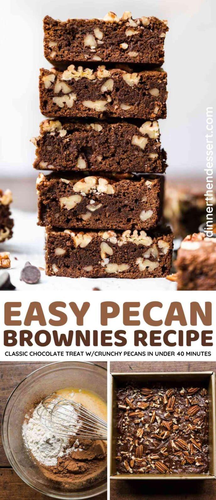 Pecan Brownies Collage