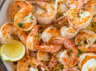 Shrimp Scampi in Pan