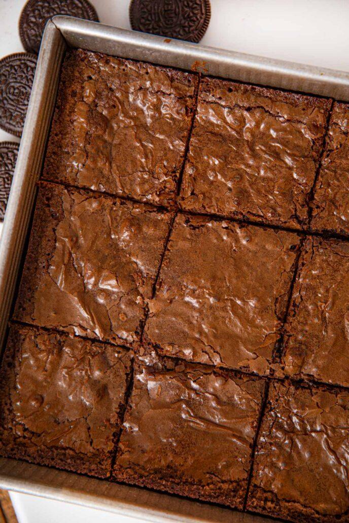 Slutty Brownies in baking pan