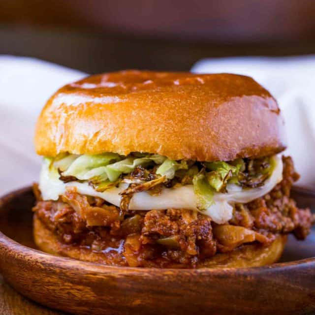 Sloppy Joes with stuffed cabbage