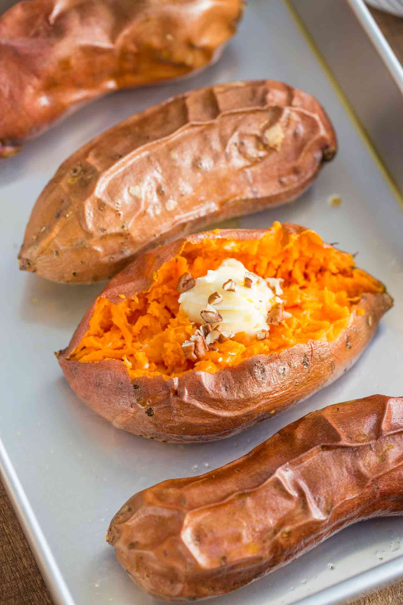 how to cook baked sweet potatoes