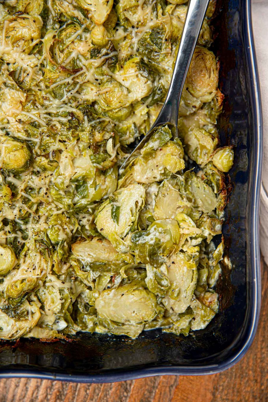 Close up of Brussels Sprouts Gratin