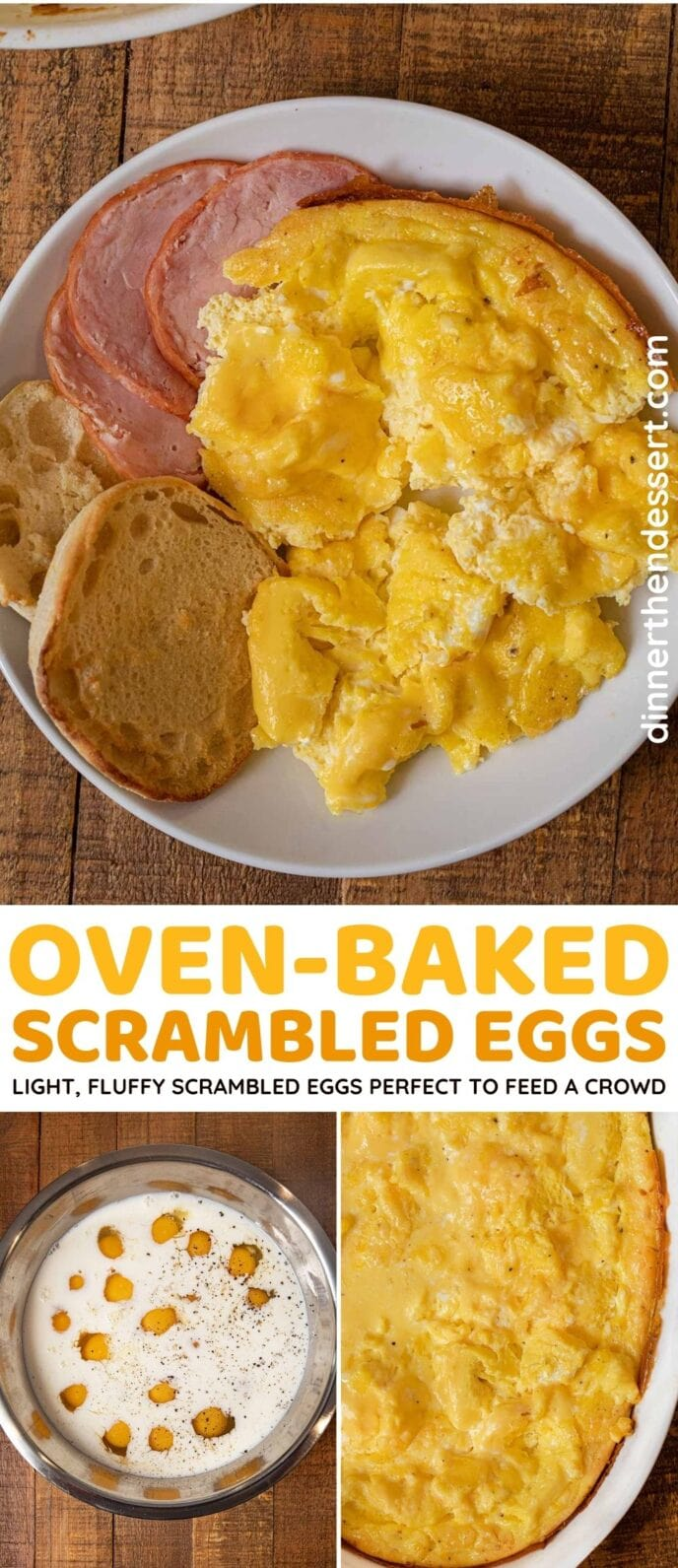 Oven Scrambled Eggs collage