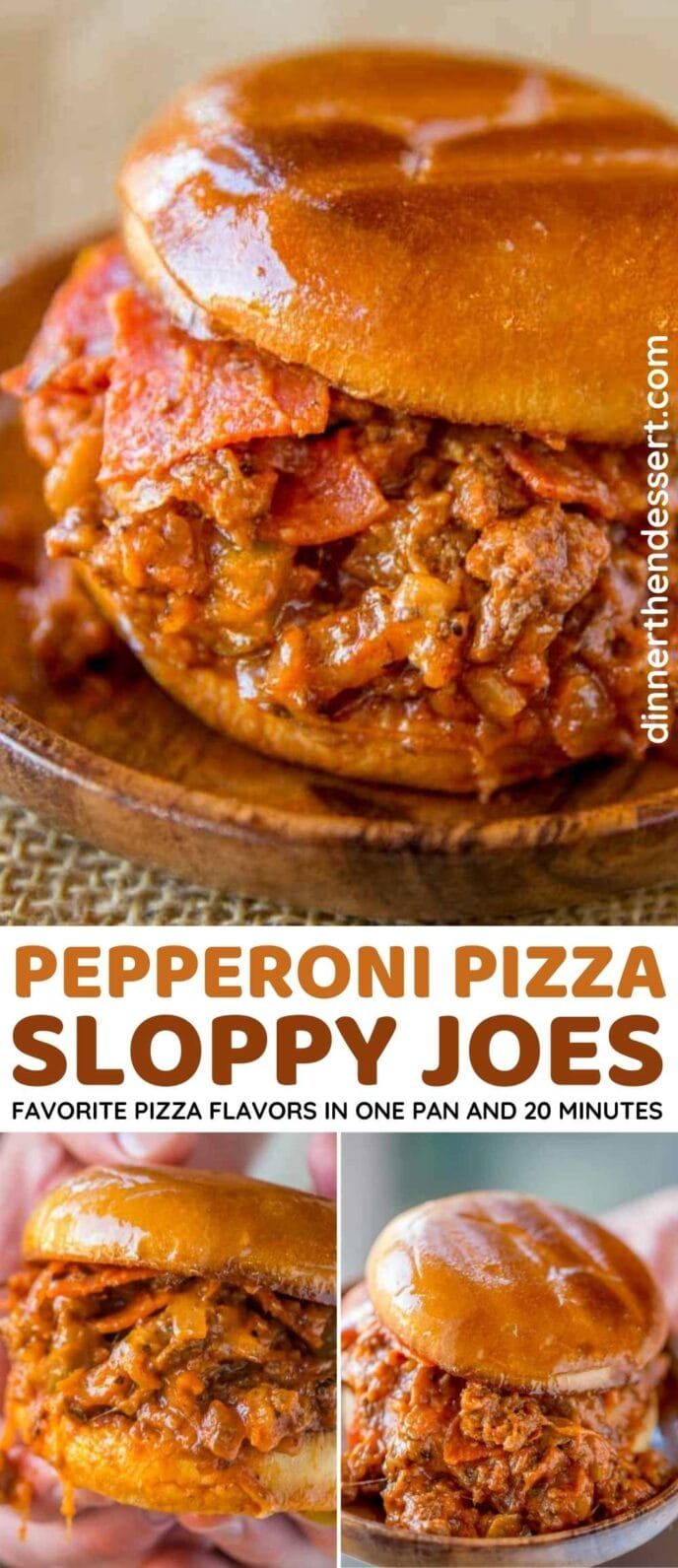 Pizza Sloppy Joes Collage
