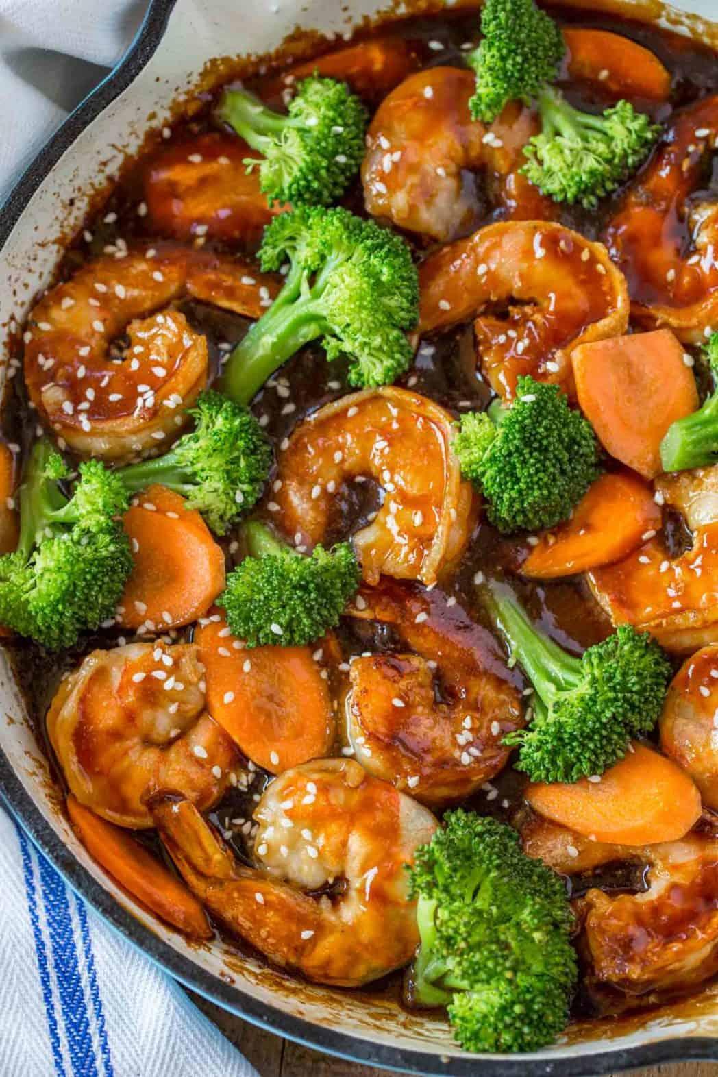 Easy Shrimp Stir-Fry - Dinner, then Dessert