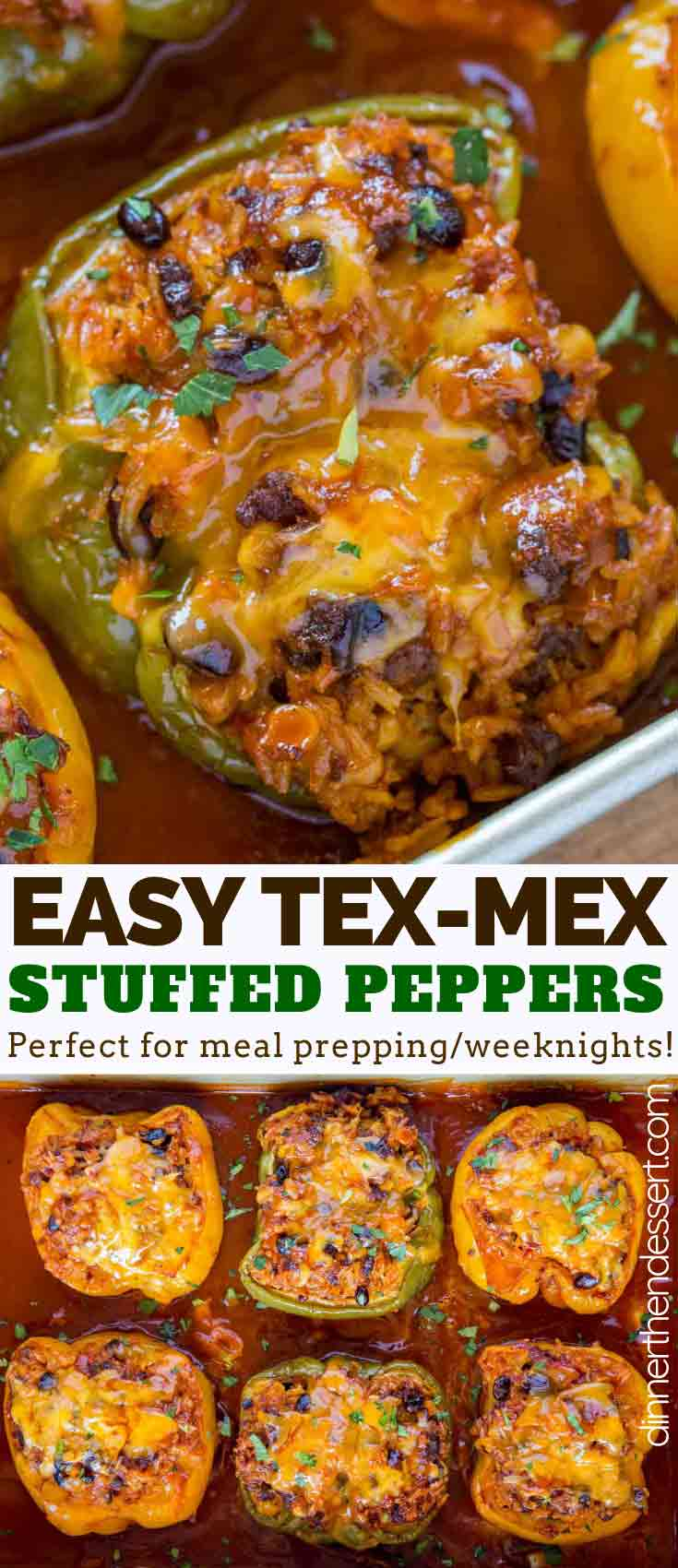 Tex Mex Stuffed Peppers Dinner Then Dessert