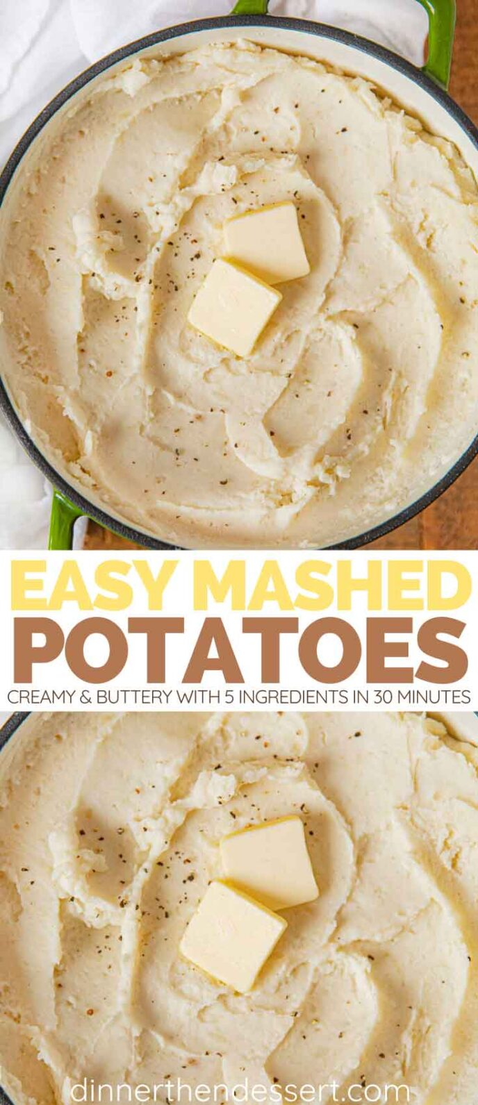 Easy Mashed Potatoes collage