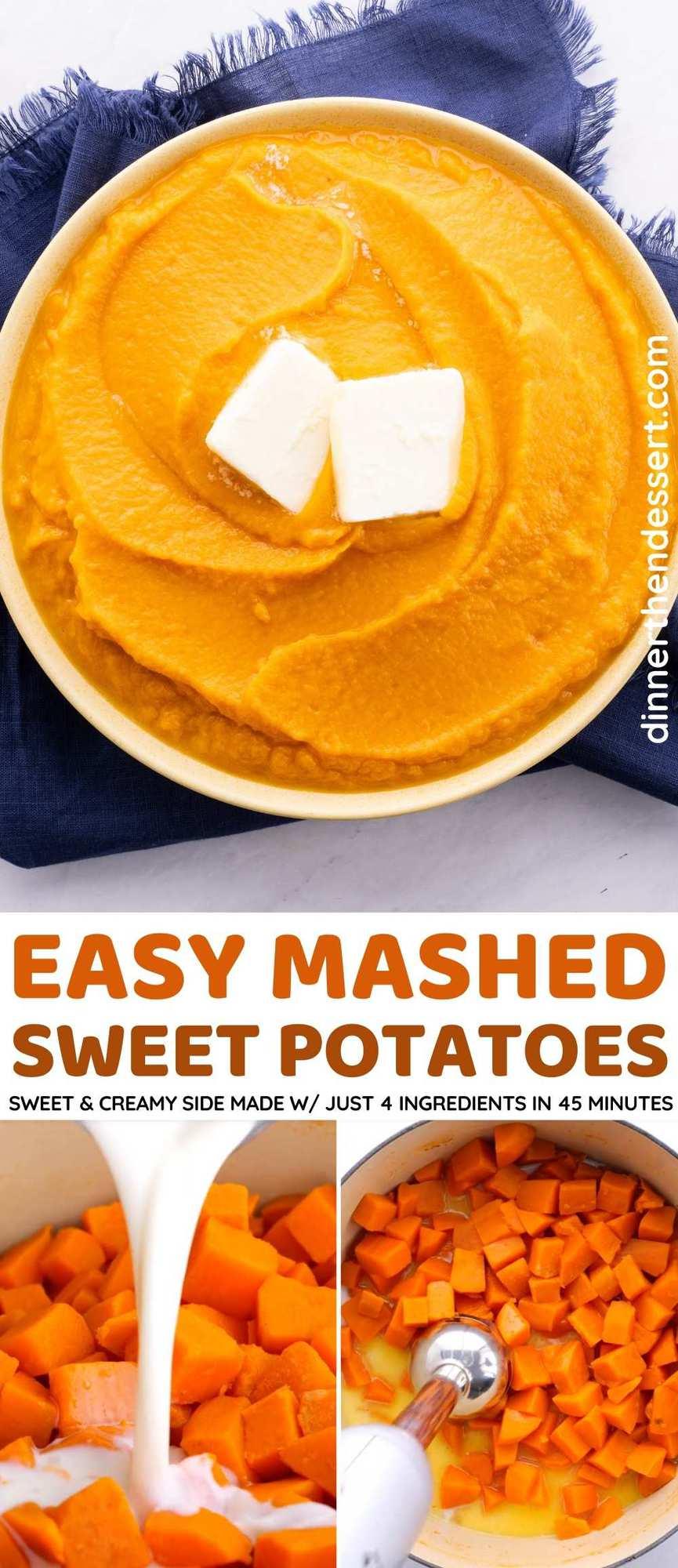 Mashed Sweet Potatoes Collage