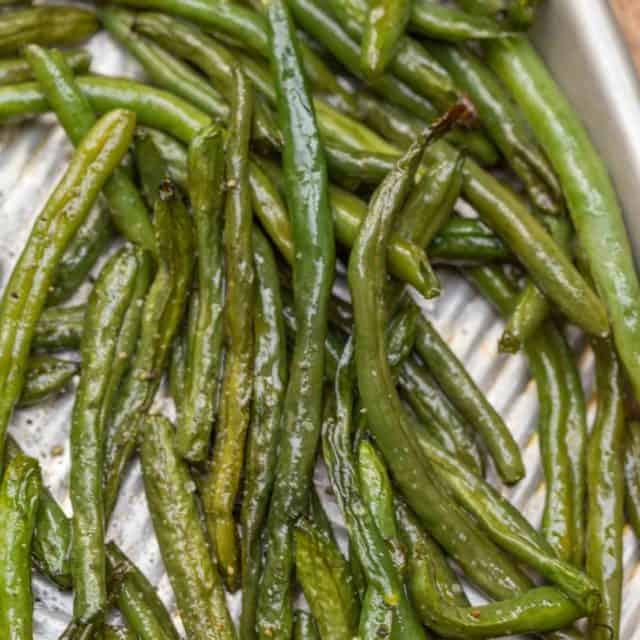Roasted Green Beans in sheetpan