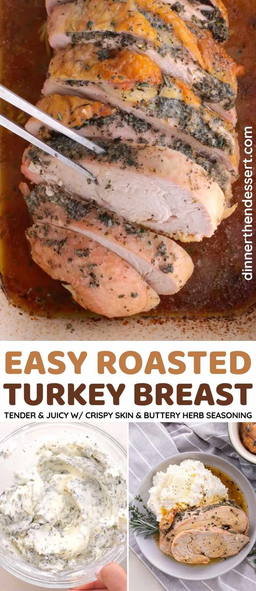 Roasted Turkey Breast Collage