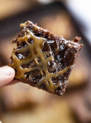 Flaky Salted Caramel Brownies