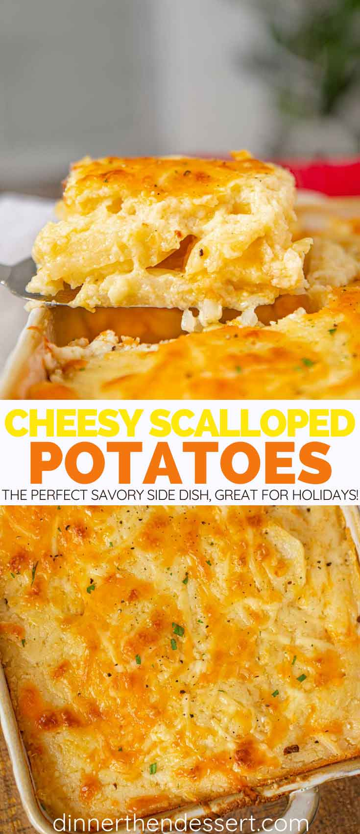 Cheesy Scalloped Potatoes collage