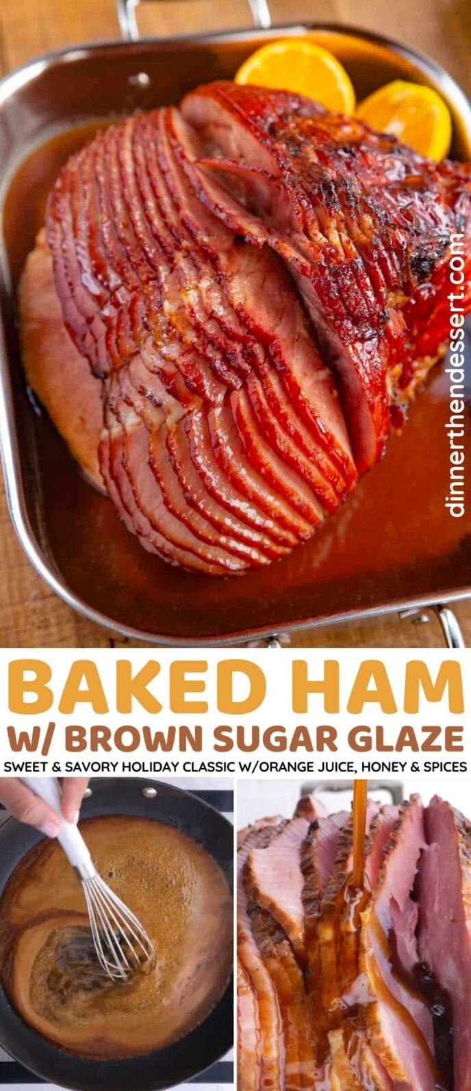 Baked Ham with Brown Sugar Glaze Collage
