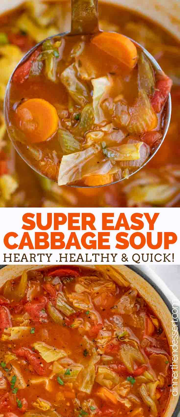 Cabbage Soup Dinner Then Dessert