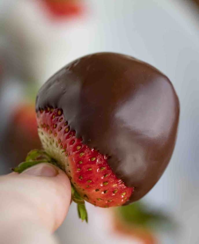 Chocolate dipped berries