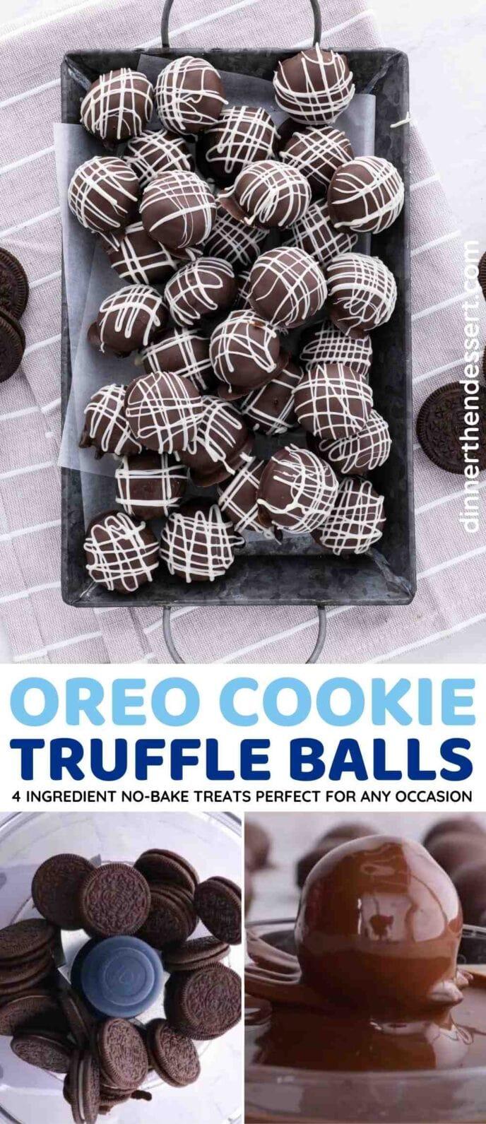 Oreo Balls (Oreo Truffles) Collage