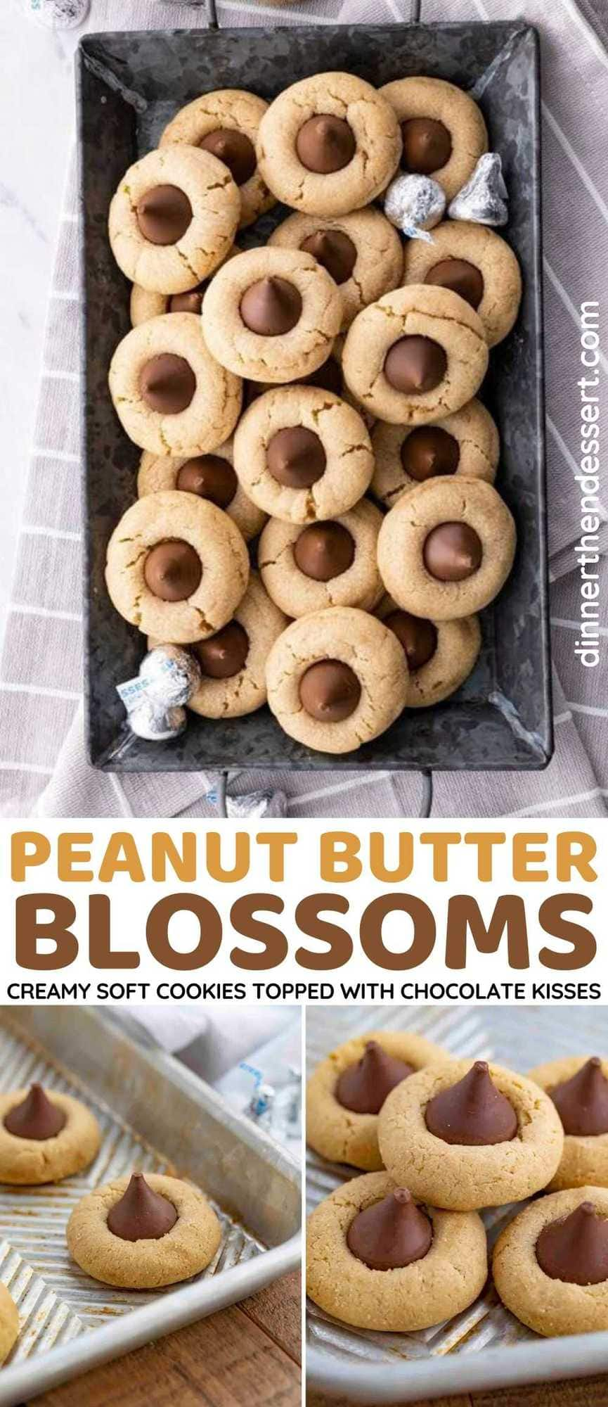 Peanut Butter Blossoms Collage