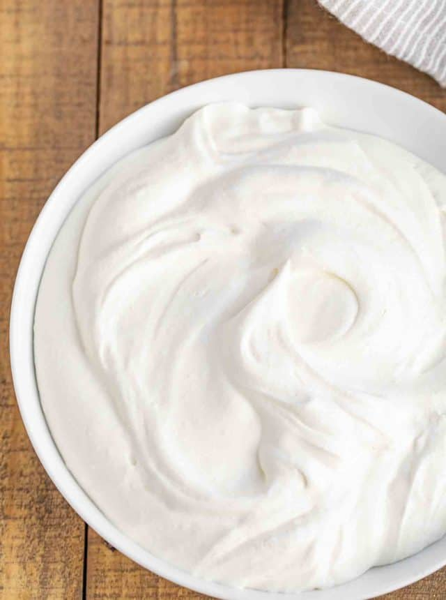 Three ingredient whipped cream