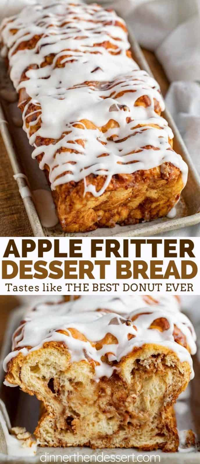 Apple Fritter Bread with Icing
