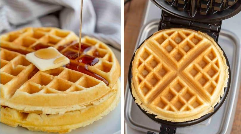 Belgian Waffles - Dinner, then Dessert