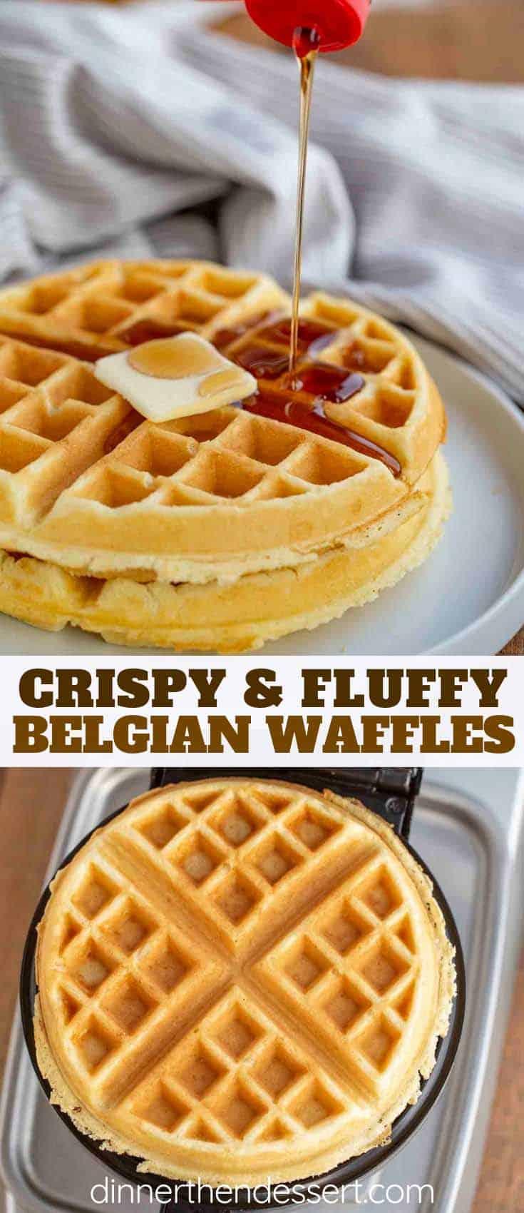Belgian Waffles Dinner Then Dessert