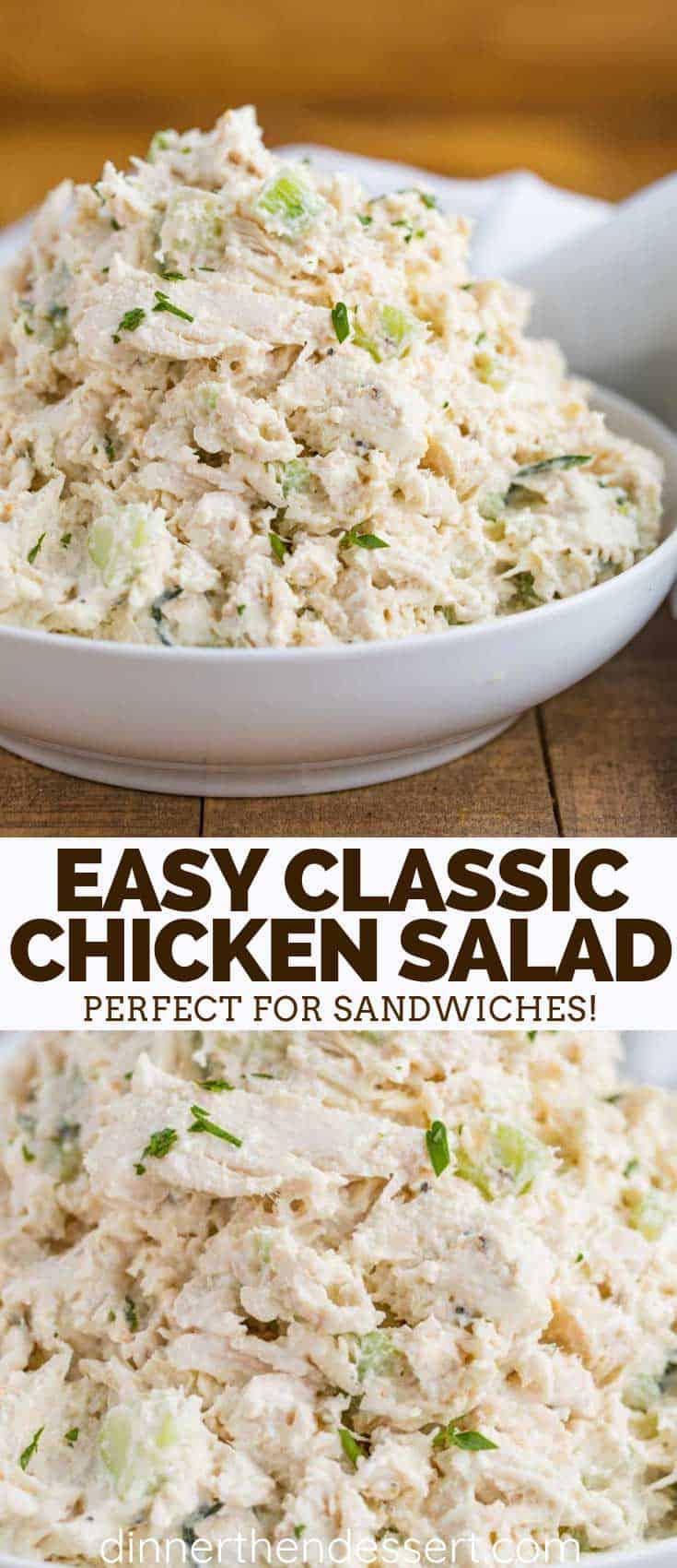 Classic Chicken Salad Dinner Then Dessert