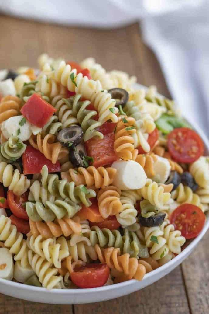 Easy Pasta Salad - Dinner, then Dessert