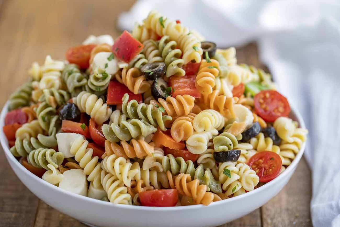 Easy Pasta Salad Dinner Then Dessert